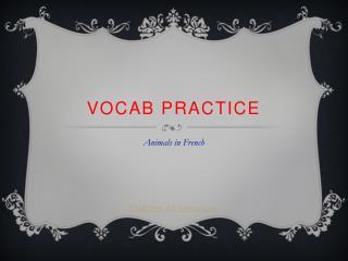 Vocab practice