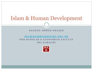 Islam & Human Development
