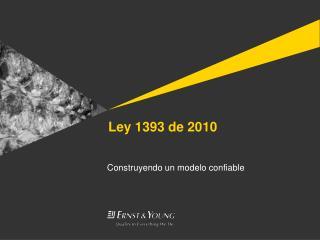 Ley  1393 de 2010