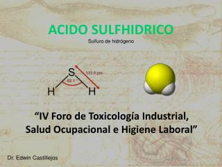 ACIDO SULFHIDRICO Sulfuro de hidrógeno