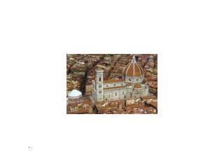 Florence Cathedral. 1296-1436.  View including Baptistery.