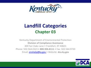 Landfill Categories Chapter 03