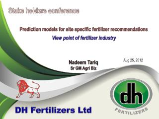 Prediction models for site specific fertilizer recommendations View point of fertilizer industry