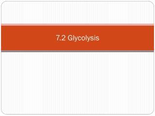 7.2  Glycolysis