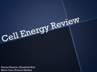 Cell Energy Review