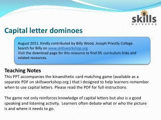 Capital letter dominoes