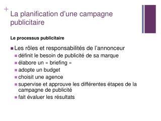 La planification d une campagne publicitaire