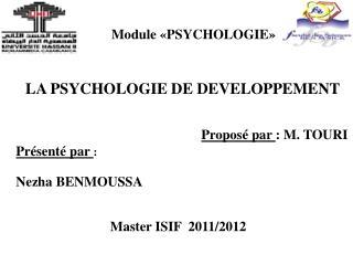 Module «PSYCHOLOGIE»