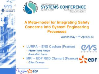 A Meta-model  for Inte gra ting Safety Concerns into  System Engineering  Processes