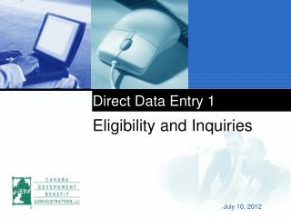 Direct Data Entry 1