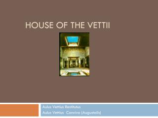 House of the Vettii