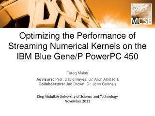 Optimizing the Performance of Streaming Numerical Kernels on the IBM Blue Gene/P PowerPC 450