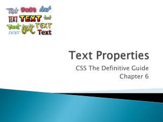 Text Properties