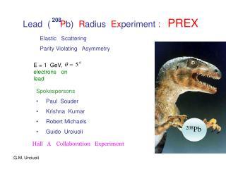 Lead (     P b)   R adius   Ex periment  :    PREX