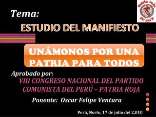 ESTUDIO DEL MANIFIESTO
