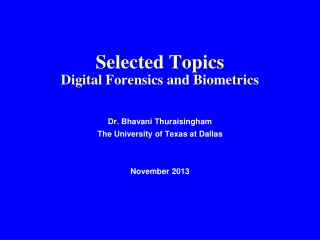 Biometric Identification  for  Efficiency and Security