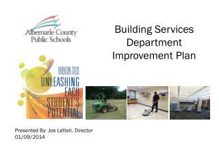 Building Services Department Improvement Plan