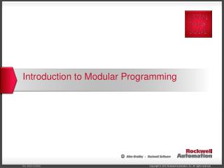 Introduction to Modular Programming