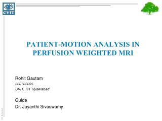 Patient-motion analysis in perfusion weighted  MRi