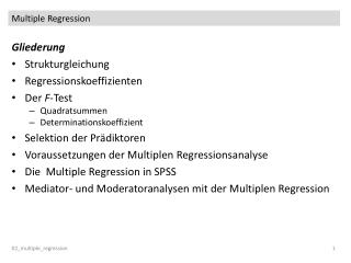 Multiple Regression