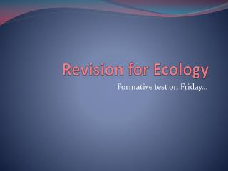 Revision for Ecology
