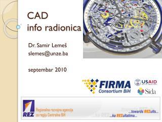 CAD  info radionica