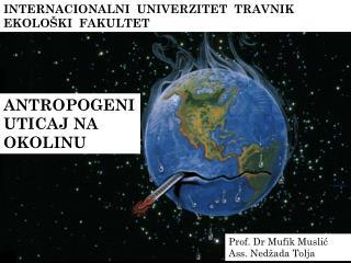 INTERNACIONALNI  UNIVERZITET  TRAVNIK EKOLOŠKI  FAKULTET
