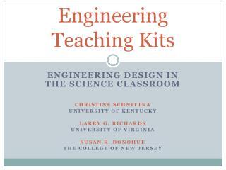 Engineering Teaching Kits