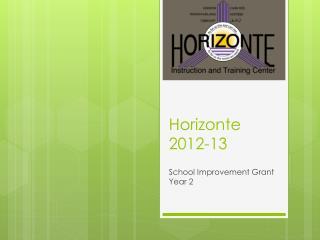 Horizonte 2012-13