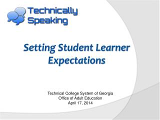 Setting Student Learner Expectations
