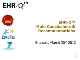 EHR-Q TN Main Conclusions & Recommendations