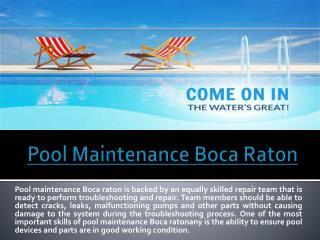 Pool Service Boca Raton