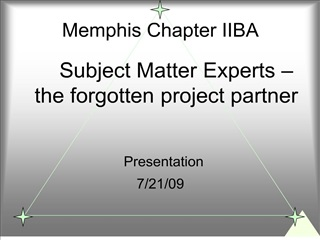 Memphis Chapter IIBA
