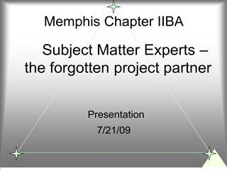 Memphis Chapter IIBA