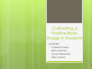 Cultivating a Positive Body Image in Students