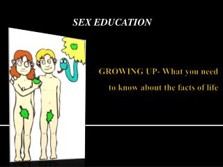 GROWING UP- What you need to know about the facts of life