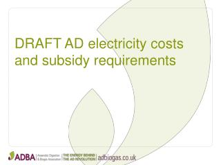 DRAFT AD  electricity costs and subsidy requirements