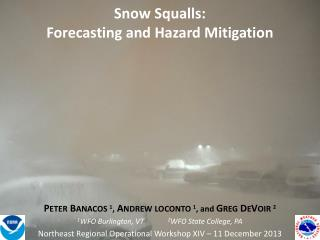 Snow Squalls: Forecasting and Hazard  Mitigation