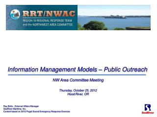 NW Area Committee  Meeting Thursday, October 25, 2012 Hood  River,  OR