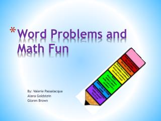 Word Problems and Math Fun