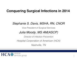 Conquering Surgical Infections in 2014