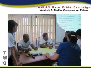 AMLAN Rare Pride Campaign  Anabele  B.  Barillo , Conservation Fellow