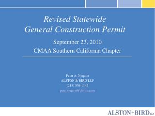 Revised Statewide  General Construction Permit