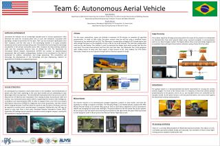 Team  6:  Autonomous Aerial Vehicle