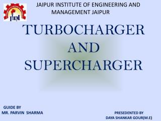 TURBOCHARGER AND SUPERCHARGER