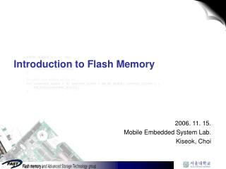 Introduction to Flash Memory