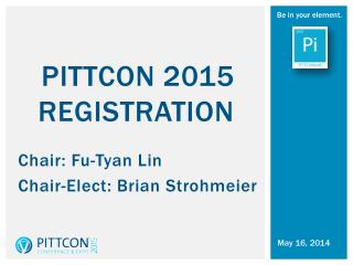 PITTCON 2015  RegistrATION