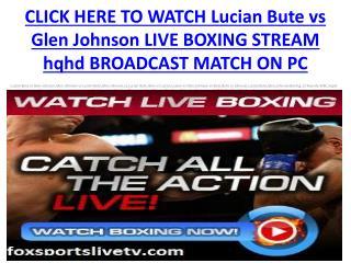 watch Lucian Bute vs Glen Johnson live Boxing Stream showtim