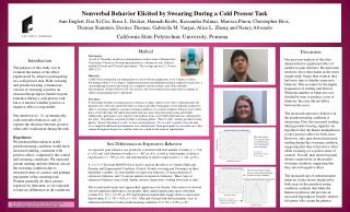 Nonverbal Behavior Elicited by Swearing During a Cold  Pressor  Task