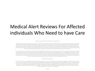 medical alert reviews